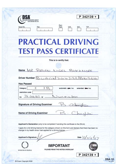 driving certificate template my driving test certificates