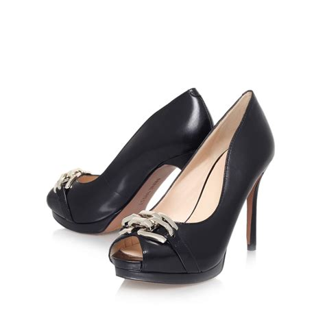 peep toe high heels nine west finoula high heel peep toe court shoes in black
