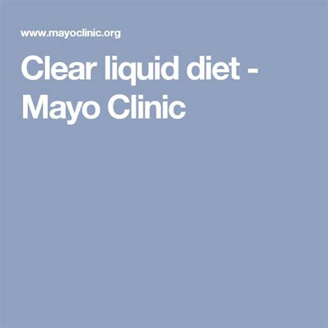 Mayo Clinic Detox by 17 Best Ideas About Liquid Diet Plan On Liquid