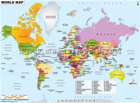 world political map with all countries world map showing all the countries of the world with