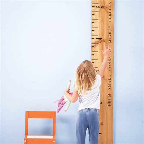 picture height personalised kids rule wooden ruler height chart by
