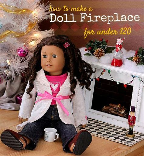 how to make a cheap dollhouse for american girl dolls how to make a fireplace for 18 quot doll american girl