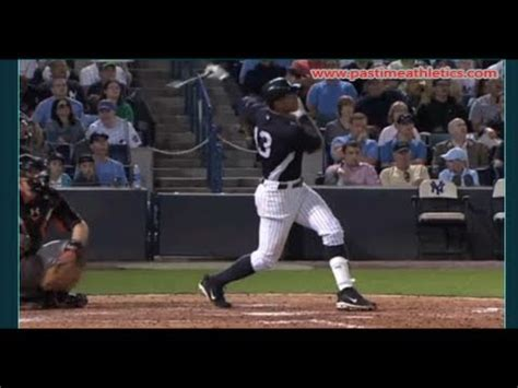 the perfect baseball swing in slow motion alex rodriguez slow motion home run baseball swing
