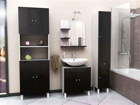 meuble sous lavabo soramena coloris noir vente de meuble