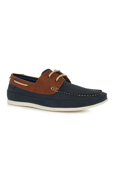 boat shoes primark loving navy brown classic boat shoe by primark