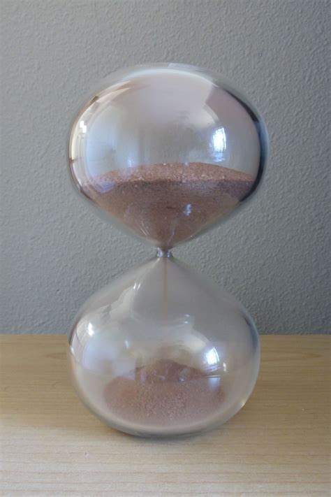 Handmade Blown Glass - handmade custom blown glass hourglass by liquid
