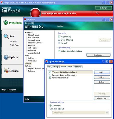 Usb Antivirus Kaspersky how to update kaspersky antivirus 6 0 manually windows