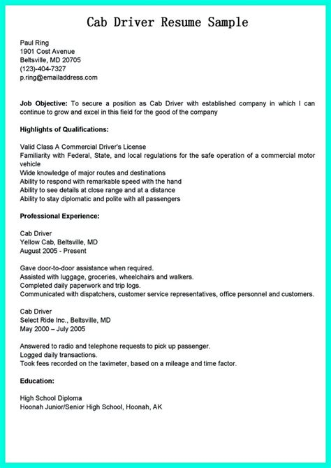 truck driver application letter sle