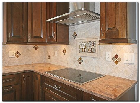 Tile Backsplash Kitchen Pictures by A Hip Kitchen Tile Backsplash Design Home And Cabinet