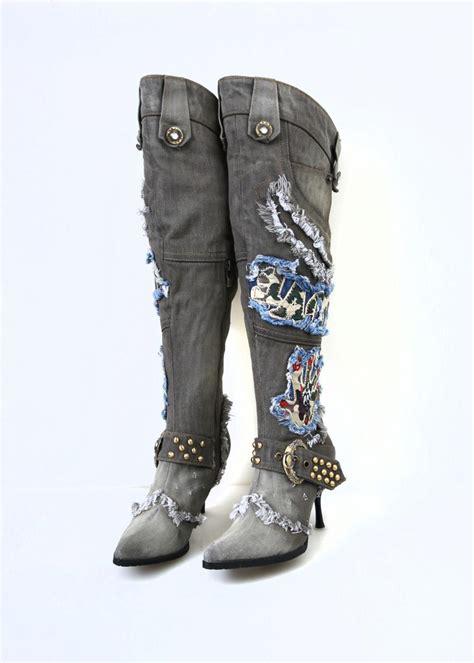 long motorcycle boots popular blue denim boots buy cheap blue denim boots lots