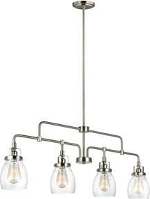 Brushed Nickel Kitchen Light Fixtures Seagull 6614504 962 Belton Modern Brushed Nickel Kitchen Island Light Fixture Sgl 6614504 962