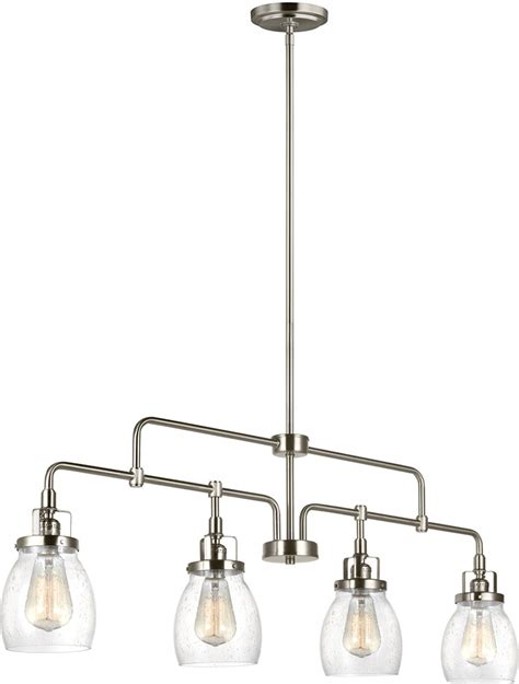 Seagull 6614504 962 Belton Modern Brushed Nickel Kitchen Brushed Nickel Kitchen Light Fixtures
