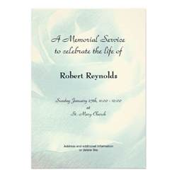 Memorial Service Notice Template memorial service announcement zazzle