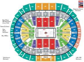 staples center seating layout