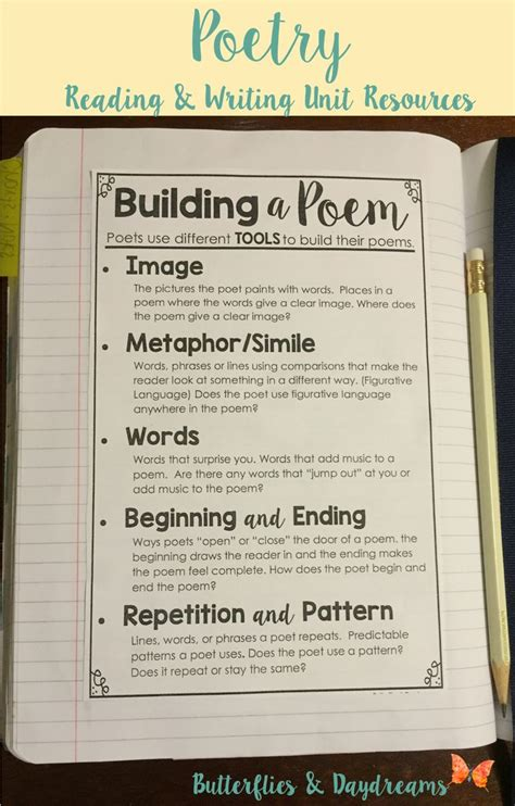 a poem 17 best ideas about 5th grade poetry on