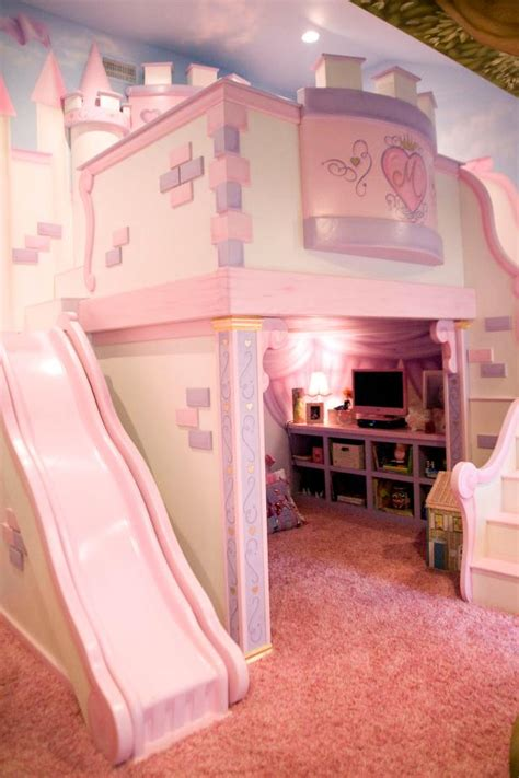 Princess Bed With Slide by S Room With Custom Princess Castle Bed Hgtv