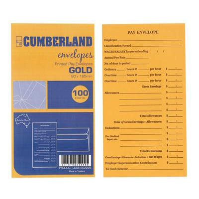 Office Depot View Paycheck Cumberland Envelopes Printed Pay 85gsm 90 X 165 Gold Pack