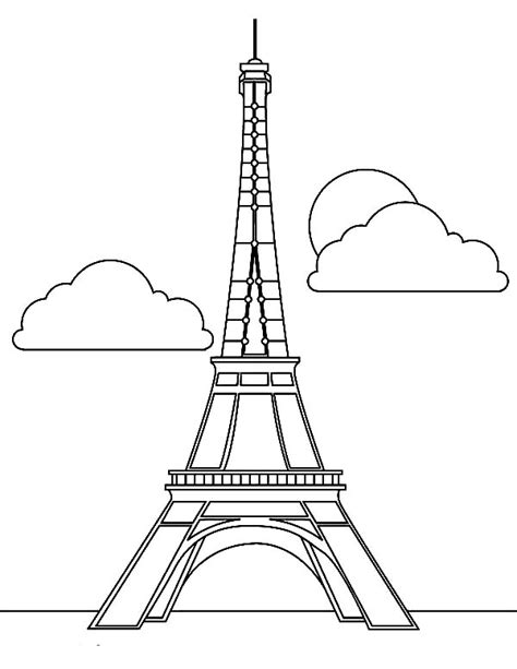 coloring page of eiffel tower free coloring pages of paris
