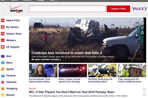a look at the new verizon yahoo homepage network world