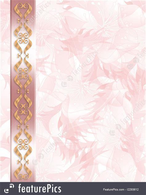 Wedding Invitation Elegant Pink Border Illustration