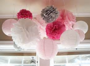 shades of pink gray baby shower ideas photo 2 of