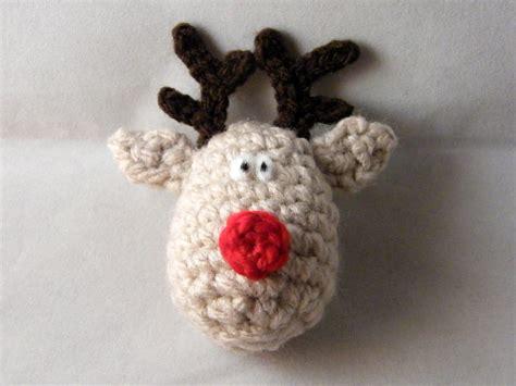 crochet reindeer christmas ornament pattern crochet arcade