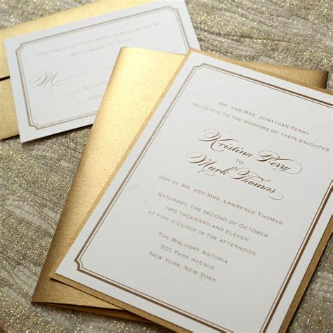 traditional wedding invitations on