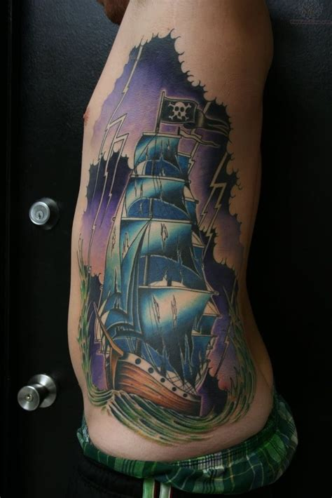 pirate ship tattoo pirate ship sleeve pirate ship large on