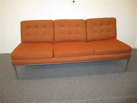 gorgeous milo baughman signed armless sofa mid century