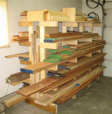25 unique lumber storage rack ideas on lumber