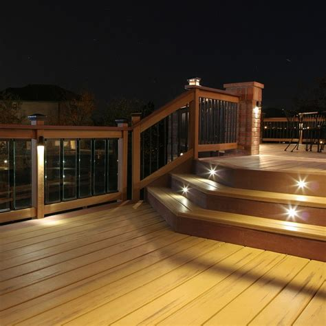 Outdoor Deck Light Outdoor Led Recessed Stair Light Kit 8 Pack Dekor 174 Lighting