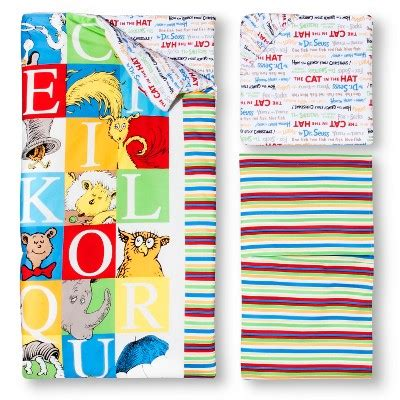 Dr Seuss By Trend Lab 3pc Crib Bedding Set Alphabet Dr Seuss Abc Crib Bedding
