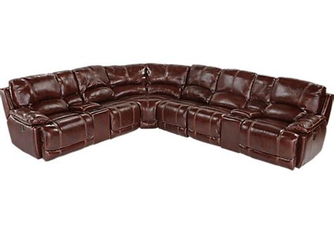 cindy crawford leather sectional cindy crawford home van buren 8 pc leather sectional