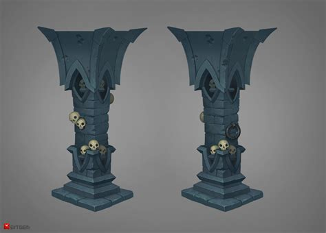 Art Deco Pedestal Pillar Concept By Gimaldinov On Deviantart