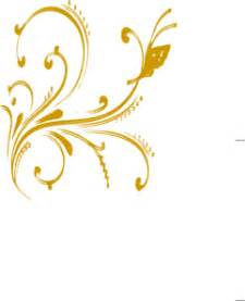 home design gold free gold floral design with butterfly clip art at clker com