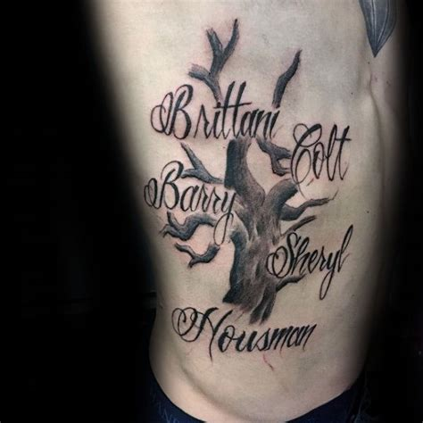 tattoo ideas family names 60 family tree tattoo designs for men kinship ink ideas