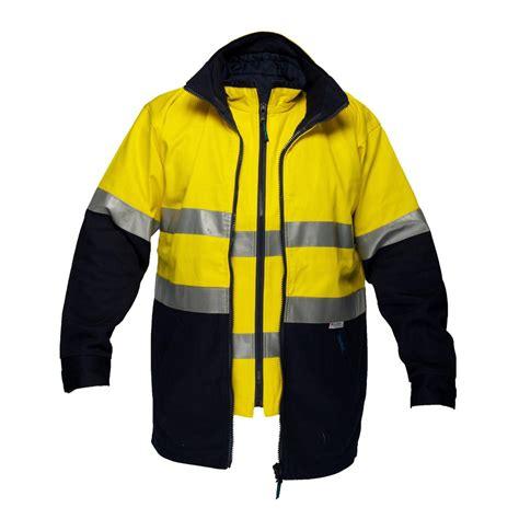 design hi vis jacket 100 cotton 4 in 1 safety jacket hi vis workwear safety