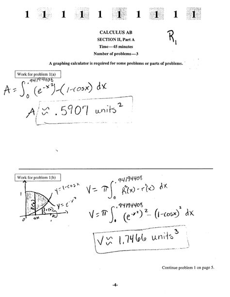 sle questions for calculus ab section 1 2000 a p calculus exam ab free response questions