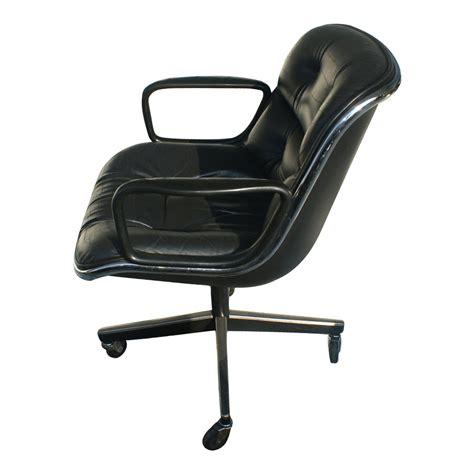 leather swivel armchairs knoll pollock executive swivel arm chair black leather ebay