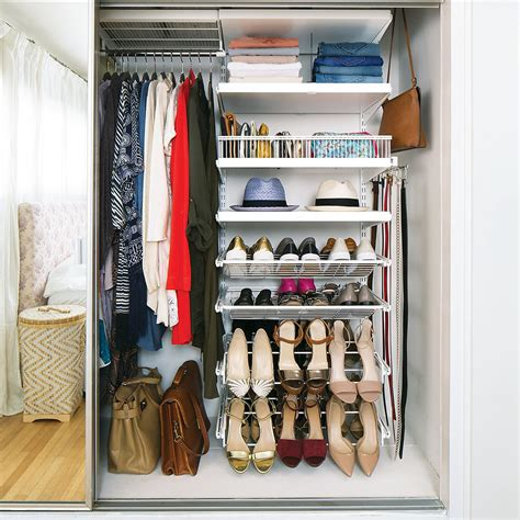 Elfa Closet by White Elfa D 233 Cor Reach In Closet The Container Store
