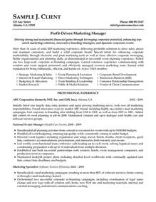 marketing director resume marketing resume exles marketer resume sles