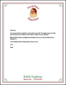 letter from santa free printable stationery