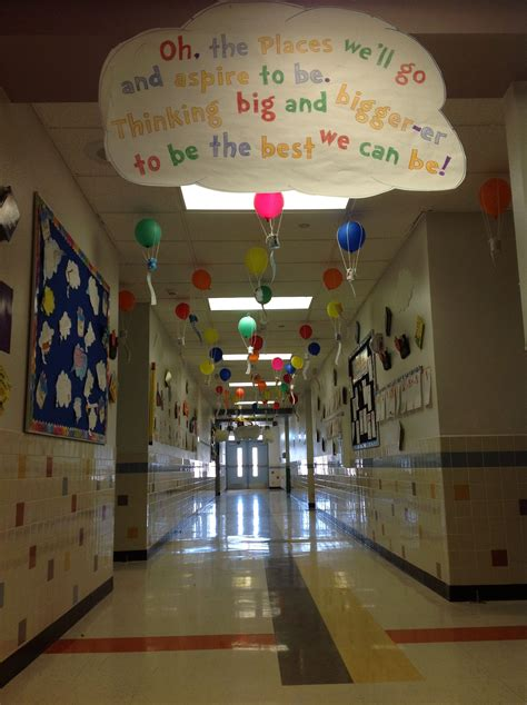 themes for college hallways dr seuss hallway quot oh the places you ll go quot teaching