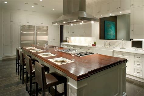 Kitchen Islands With Cooktop Cooktop On Center Island Design Ideas