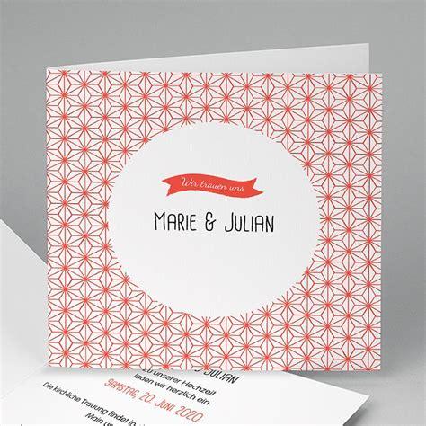 Motive Hochzeitseinladungen by Hochzeitseinladungen Modern Motiv Origami Carteland De