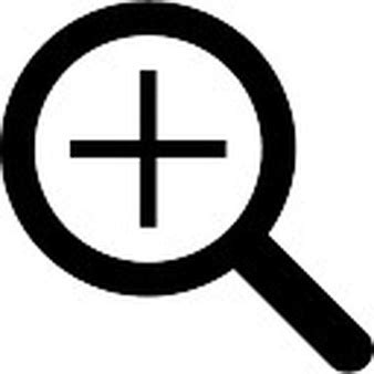 Zoom Search Zoom Interface Symbol Of Text Paper With A Magnifier Glass Icons Free