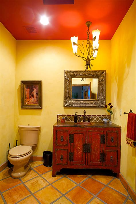 Bathroom Mirror Decorating Ideas spanish style bathroom and the downstairs mexican tile