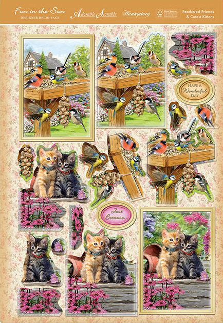 Hunkydory Decoupage - hunkydory in the sun die cut decoupage and card sets