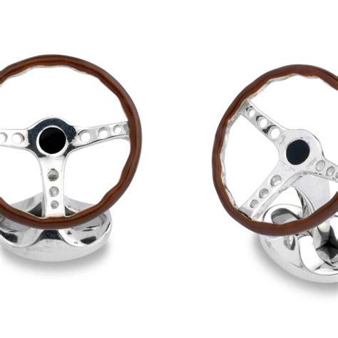 solid silver solid silver steering wheel cufflinks