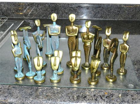 metal chess set brass verdigris chess set collectors weekly